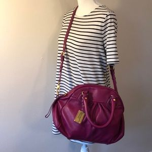 Marc by Marc Jacobs Fuschia Leather Satchel - EUC